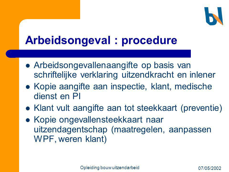 Arbeidsongeval : procedure