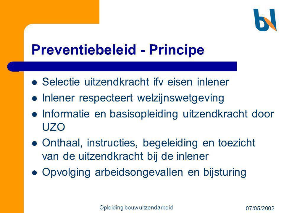 Preventiebeleid - Principe