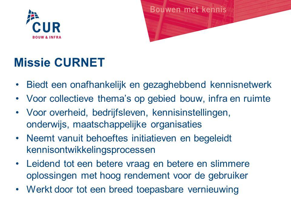 Missie CURNET Biedt een onafhankelijk en gezaghebbend kennisnetwerk