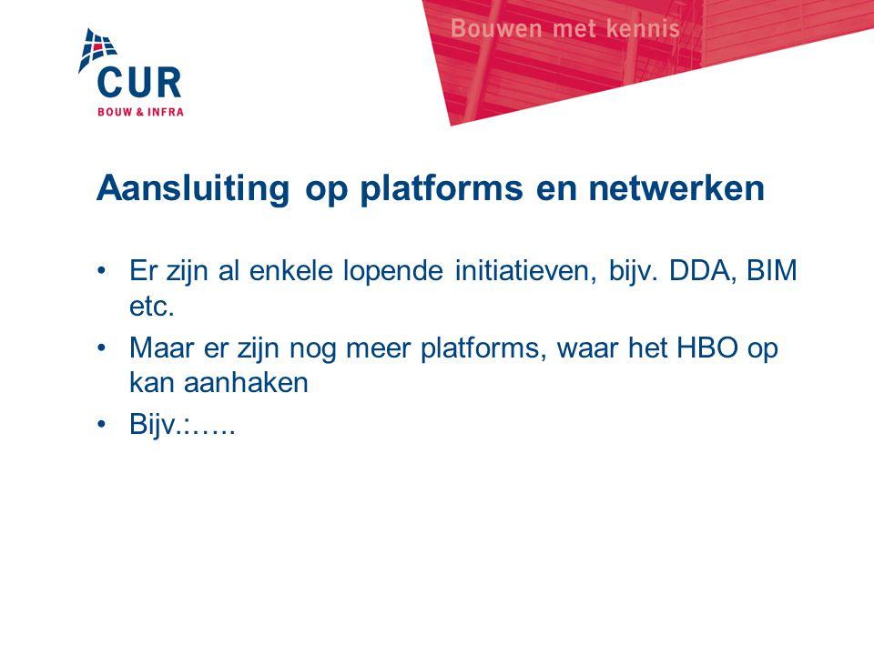 Aansluiting op platforms en netwerken