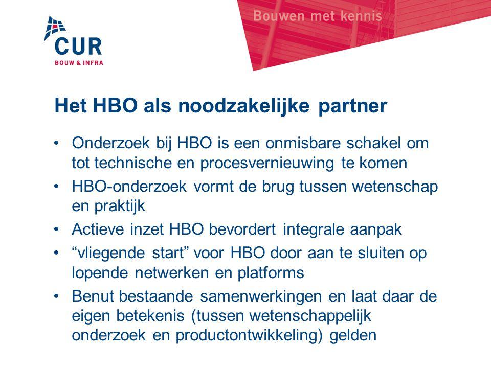 Het HBO als noodzakelijke partner