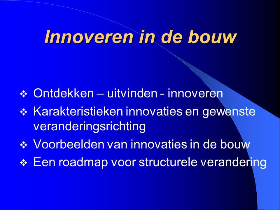 Innoveren in de bouw Ontdekken – uitvinden - innoveren