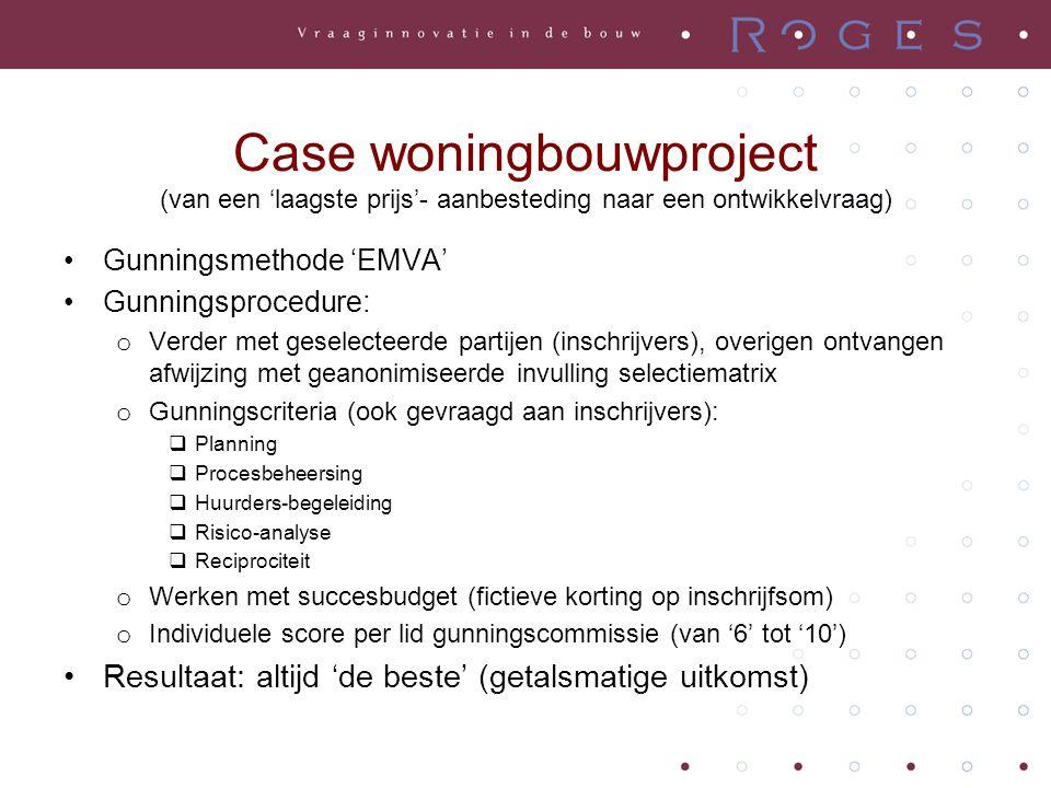 Case woningbouwproject (van een 'laagste prijs'- aanbesteding naar een ontwikkelvraag)