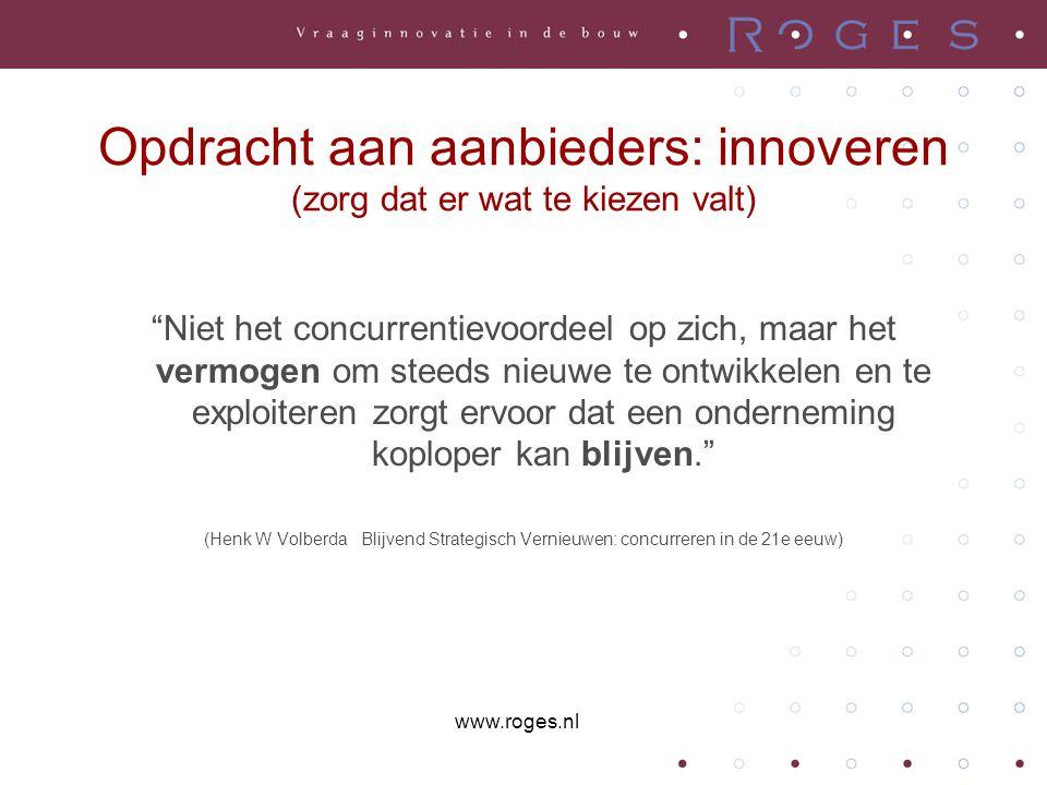 Opdracht aan aanbieders: innoveren (zorg dat er wat te kiezen valt)