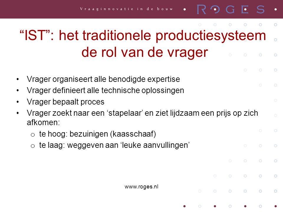 IST : het traditionele productiesysteem de rol van de vrager