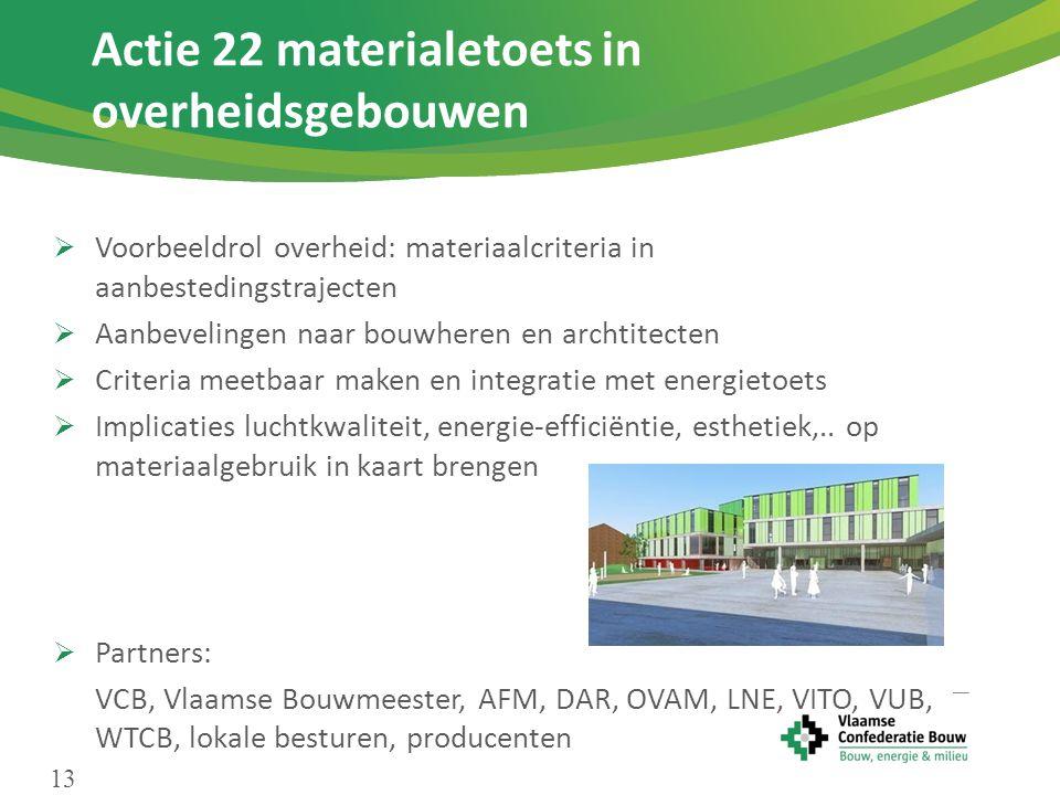Actie 22 materialetoets in overheidsgebouwen