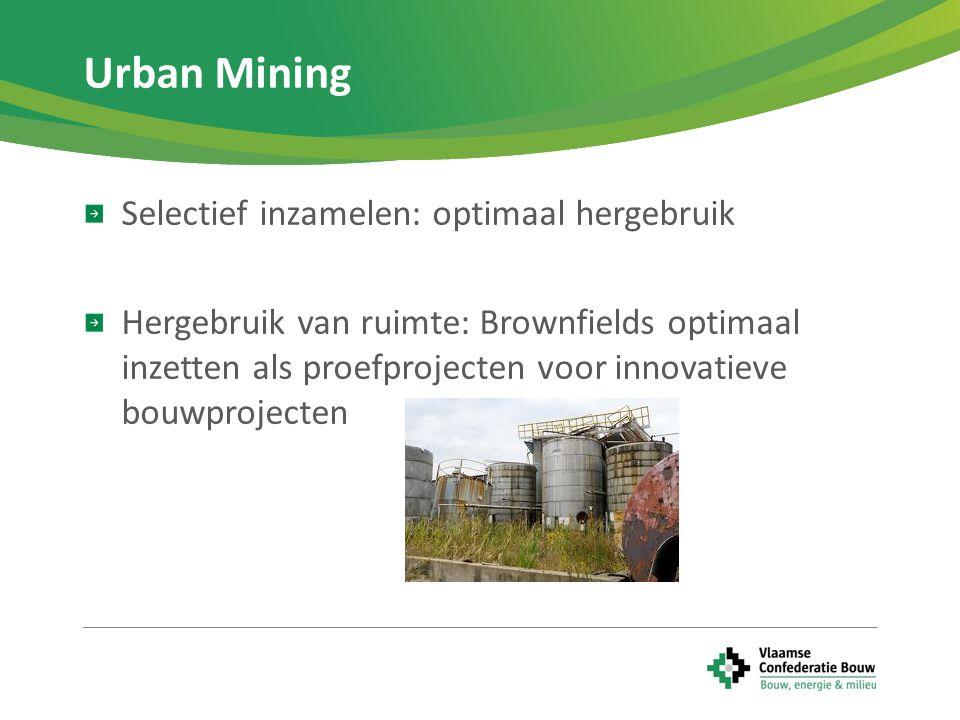 Urban Mining Selectief inzamelen: optimaal hergebruik