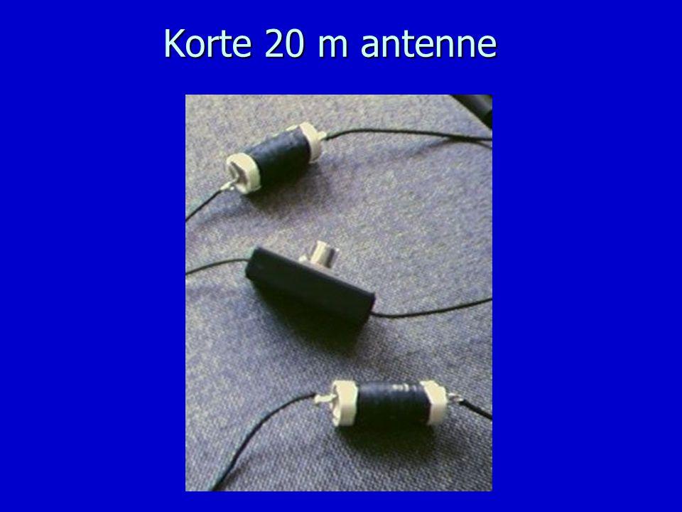 Korte 20 m antenne