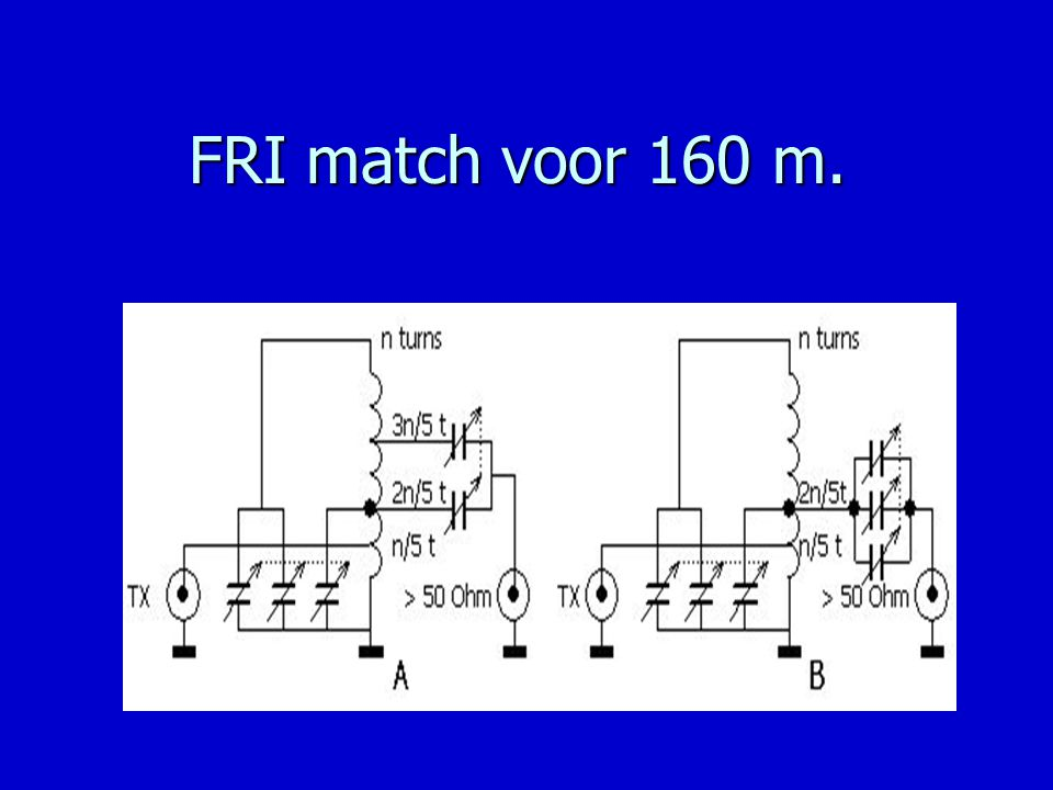 FRI match voor 160 m.