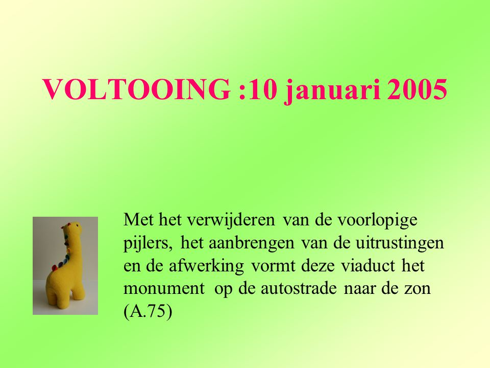 VOLTOOING :10 januari 2005