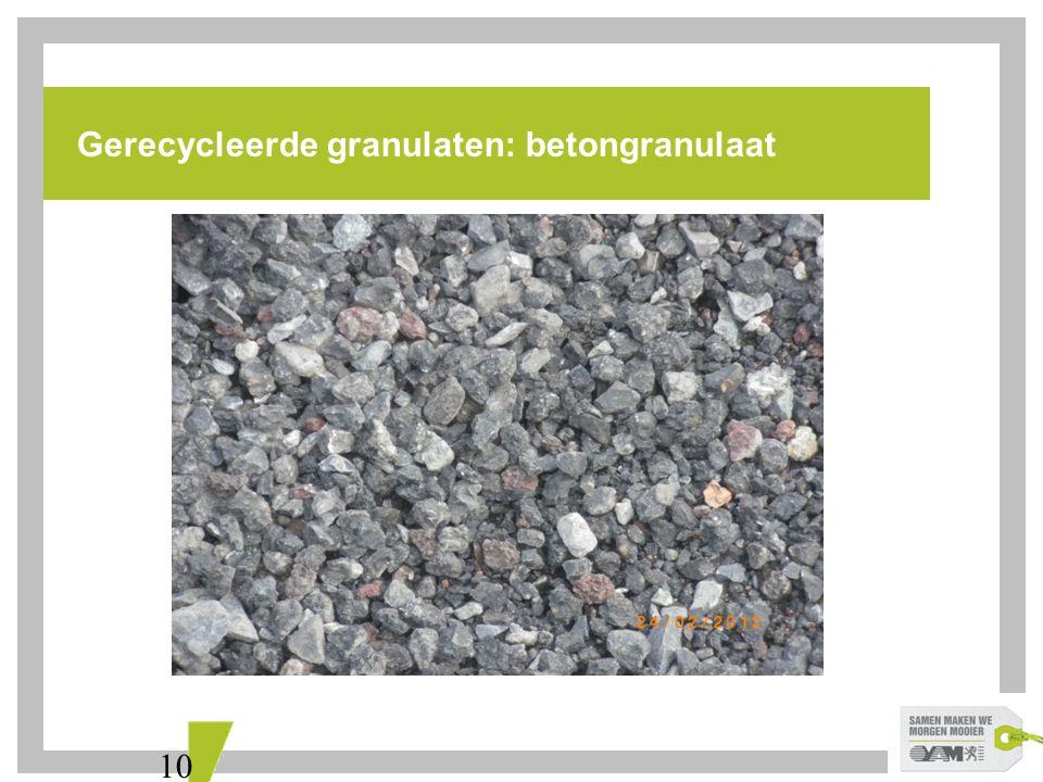 Gerecycleerde granulaten: betongranulaat