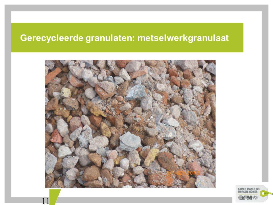 Gerecycleerde granulaten: metselwerkgranulaat