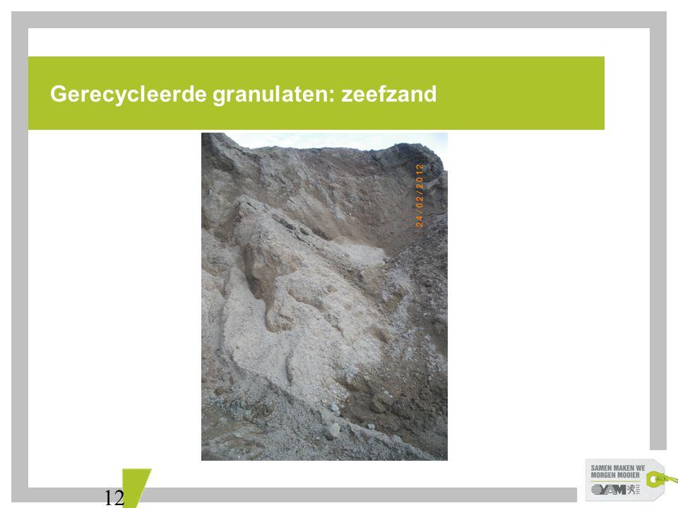 Gerecycleerde granulaten: zeefzand