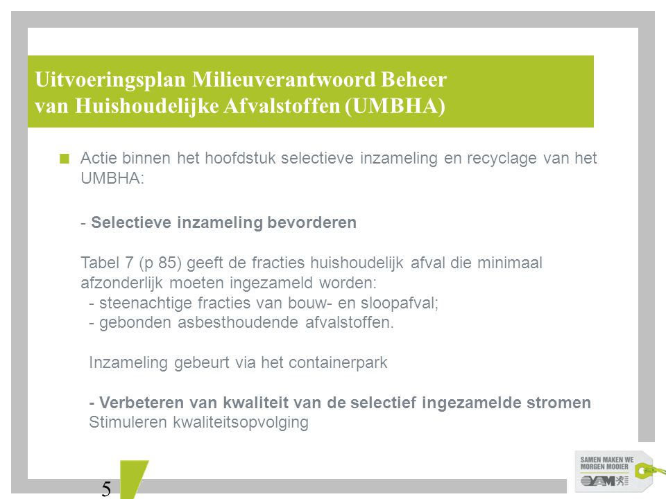 Uitvoeringsplan Milieuverantwoord Beheer
