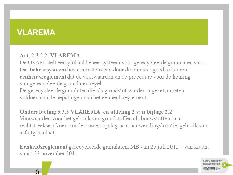 VLAREMA Art. 2.3.2.2. VLAREMA.