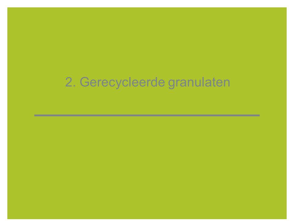 2. Gerecycleerde granulaten
