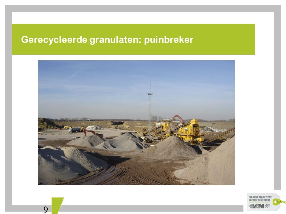 Gerecycleerde granulaten: puinbreker