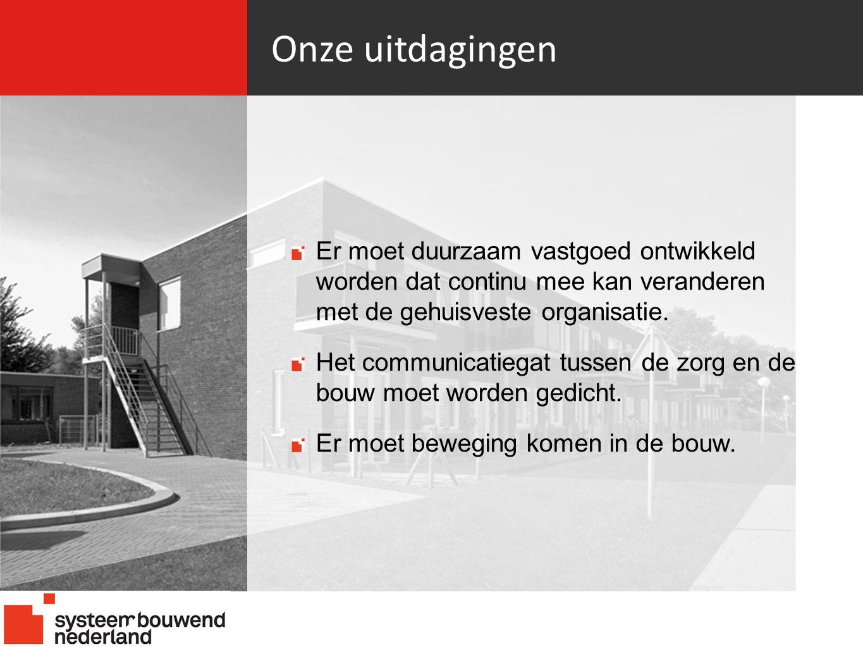Onze uitdagingen 21-06-10. Er moet duurzaam vastgoed ontwikkeld worden dat continu mee kan veranderen met de gehuisveste organisatie.