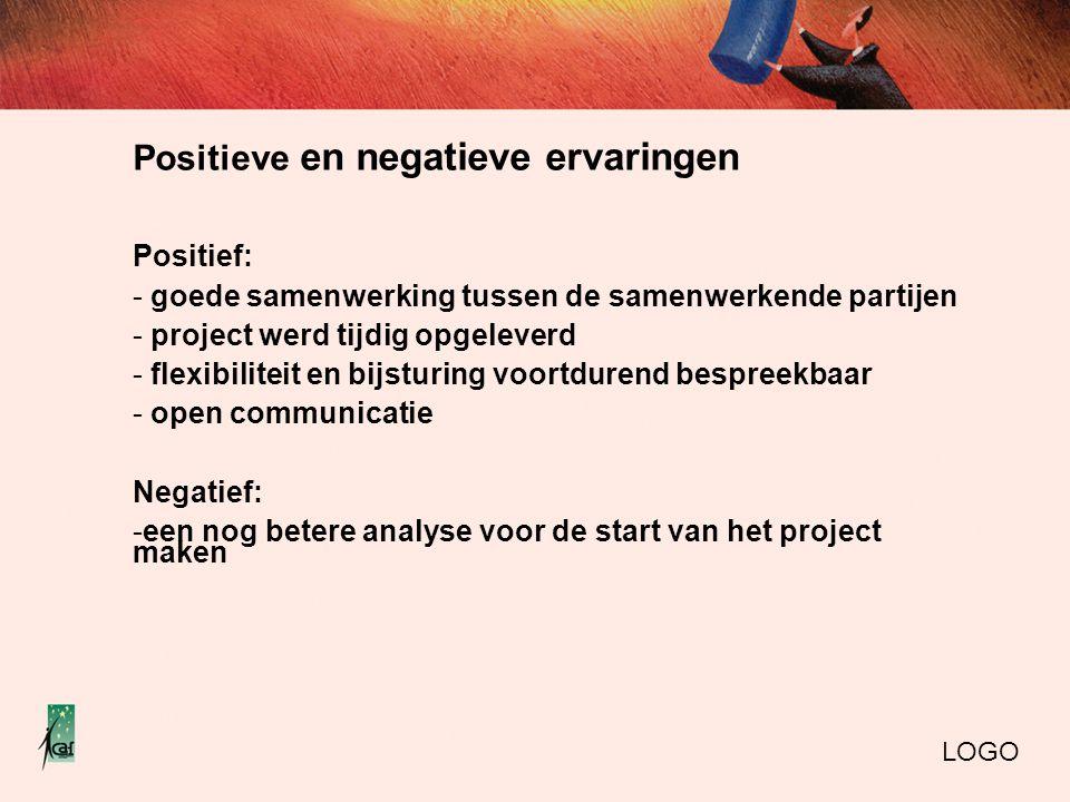 Positieve en negatieve ervaringen