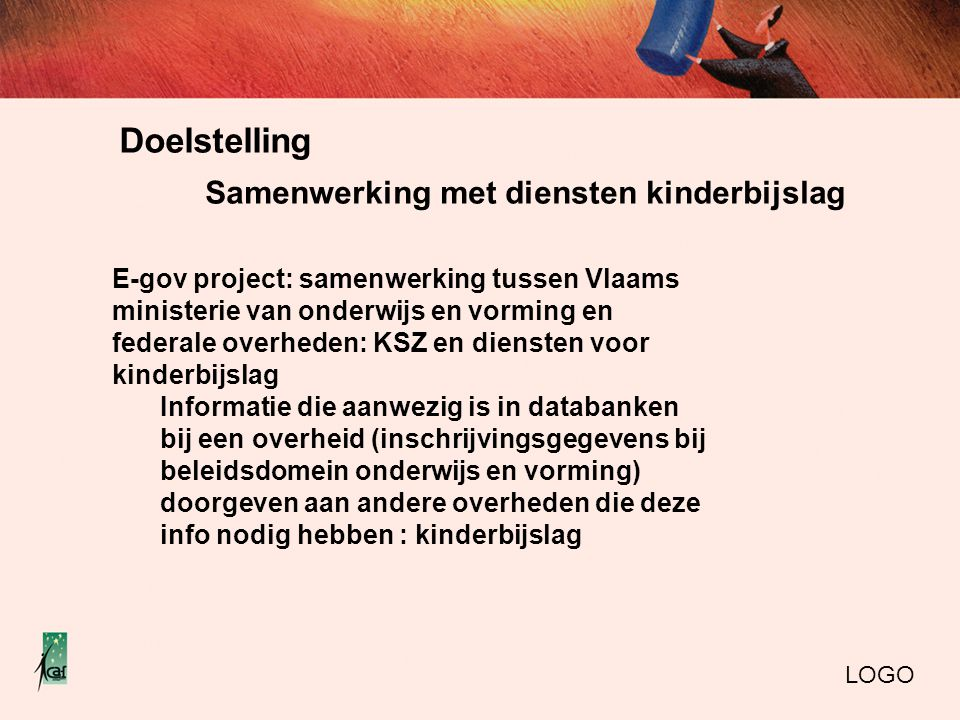 Doelstelling Samenwerking met diensten kinderbijslag