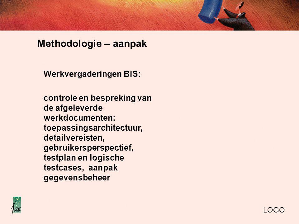 Methodologie – aanpak Werkvergaderingen BIS: