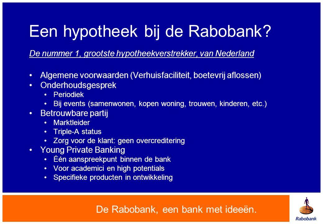 Een hypotheek bij de Rabobank