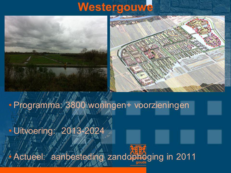 Westergouwe Programma: 3800 woningen+ voorzieningen