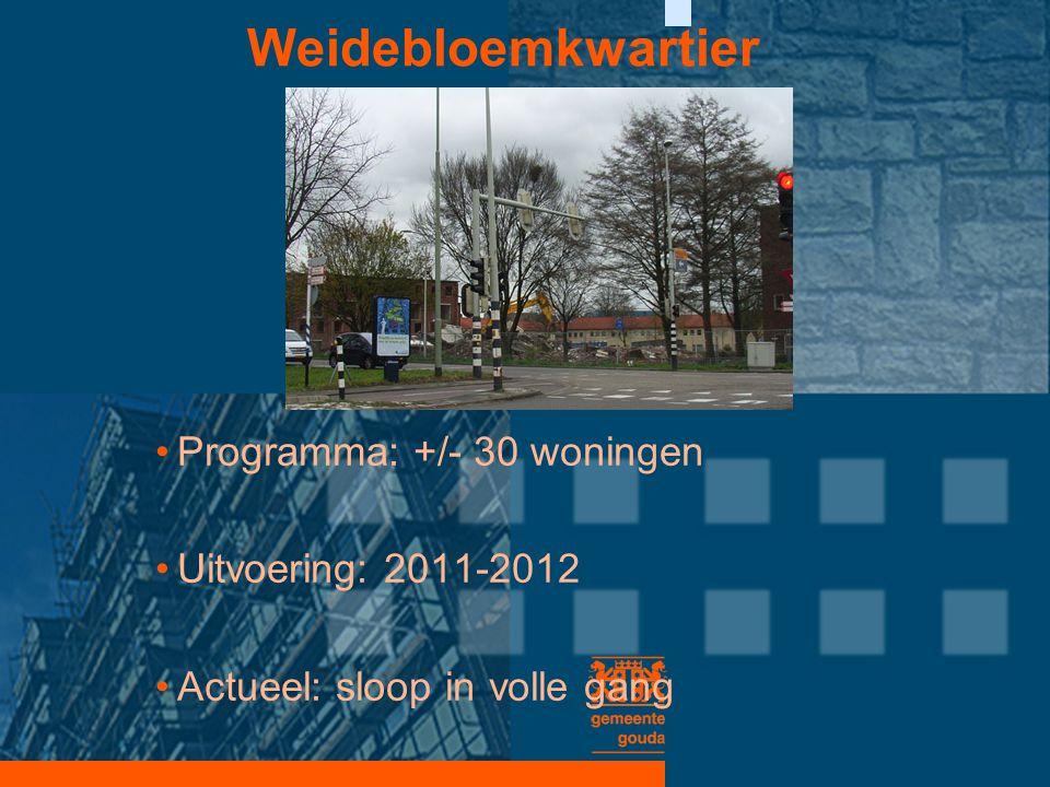 Weidebloemkwartier Programma: +/- 30 woningen Uitvoering: 2011-2012