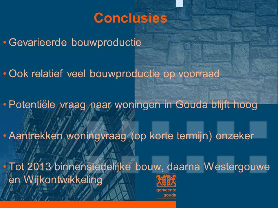 Conclusies Gevarieerde bouwproductie