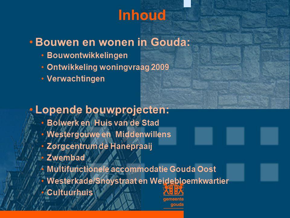 Inhoud Bouwen en wonen in Gouda: Lopende bouwprojecten: