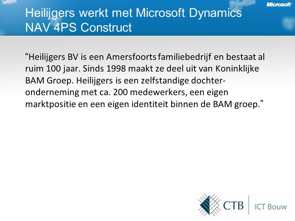 Heilijgers werkt met Microsoft Dynamics NAV 4PS Construct