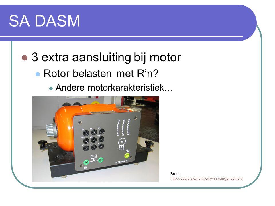 SA DASM 3 extra aansluiting bij motor Rotor belasten met R'n