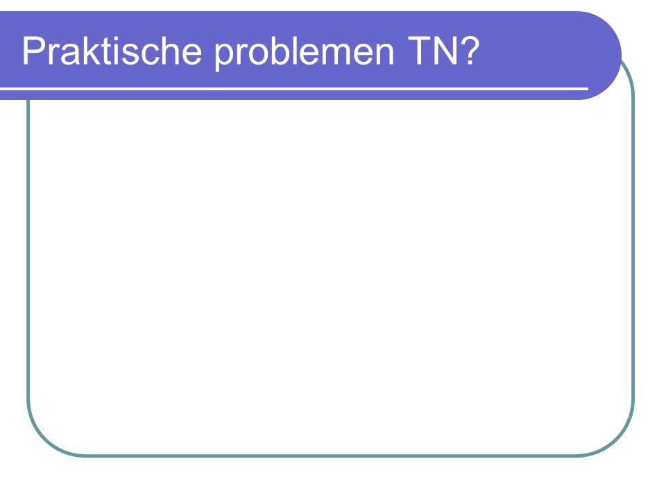 Praktische problemen TN