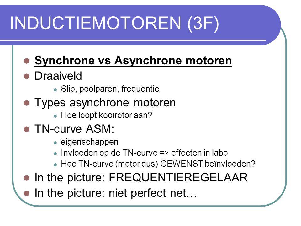 INDUCTIEMOTOREN (3F) Synchrone vs Asynchrone motoren Draaiveld