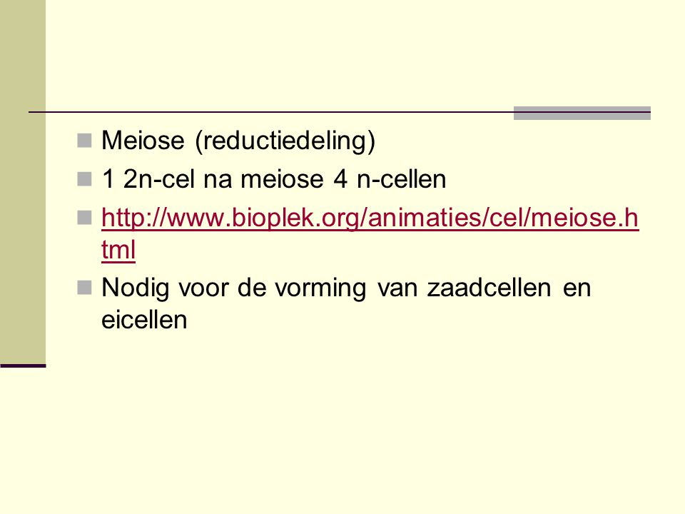 Meiose (reductiedeling)