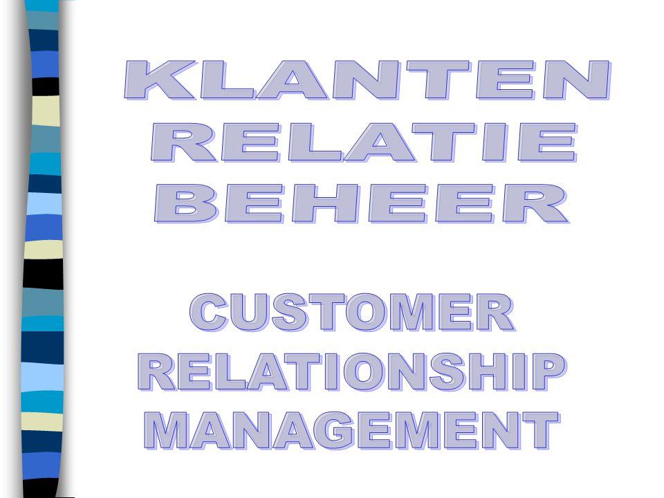 KLANTEN RELATIE BEHEER CUSTOMER RELATIONSHIP MANAGEMENT