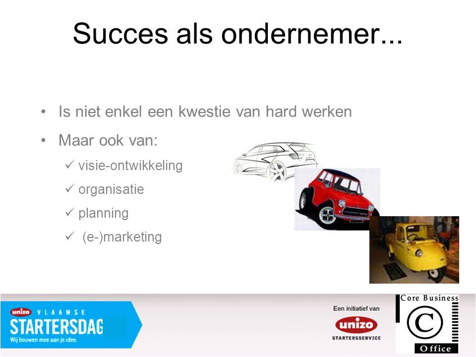 Succes als ondernemer... Is niet enkel een kwestie van hard werken
