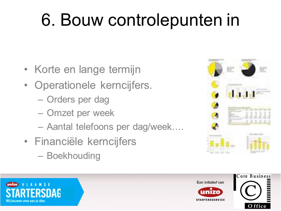 6. Bouw controlepunten in