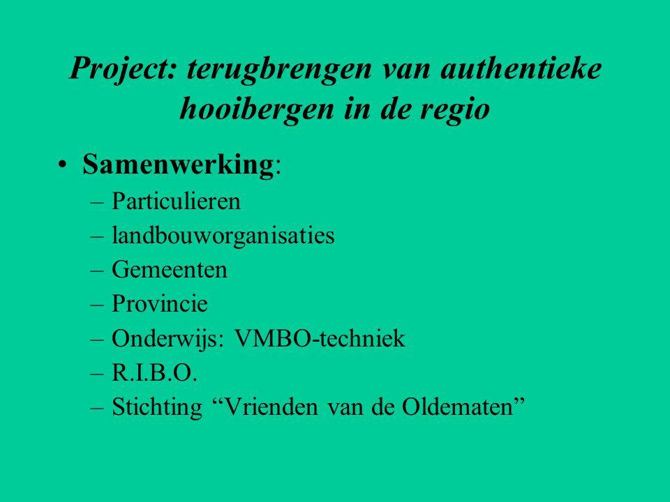 Project: terugbrengen van authentieke hooibergen in de regio