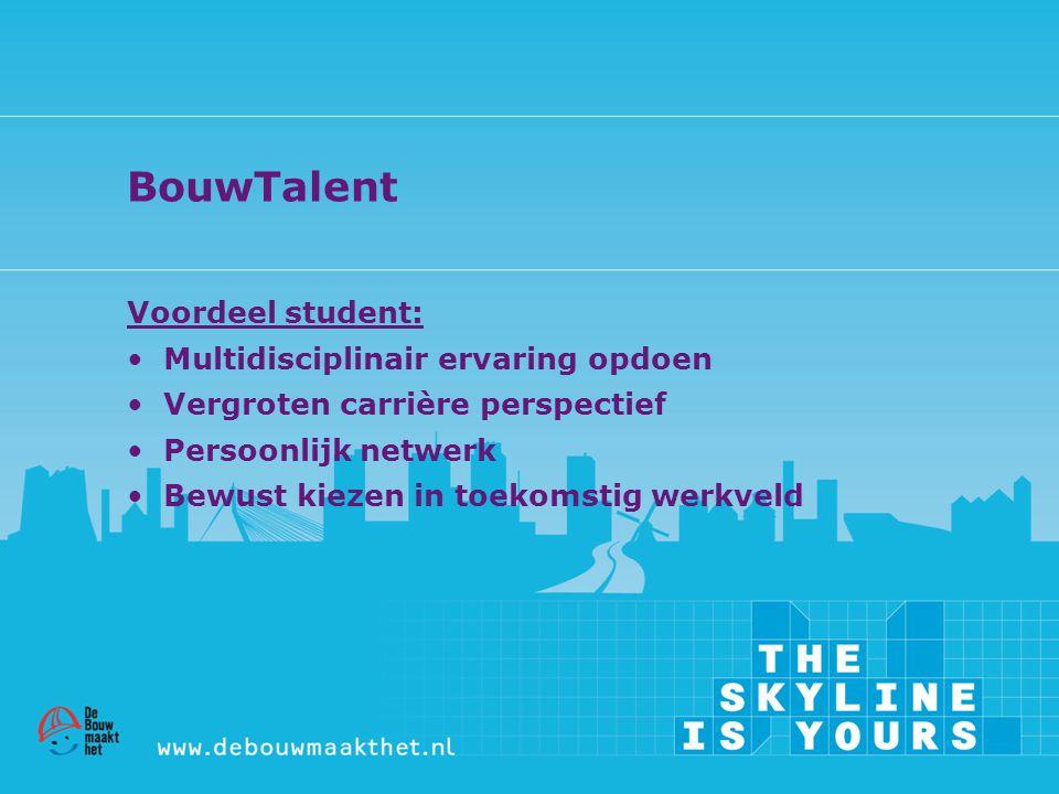 BouwTalent Voordeel student: Multidisciplinair ervaring opdoen