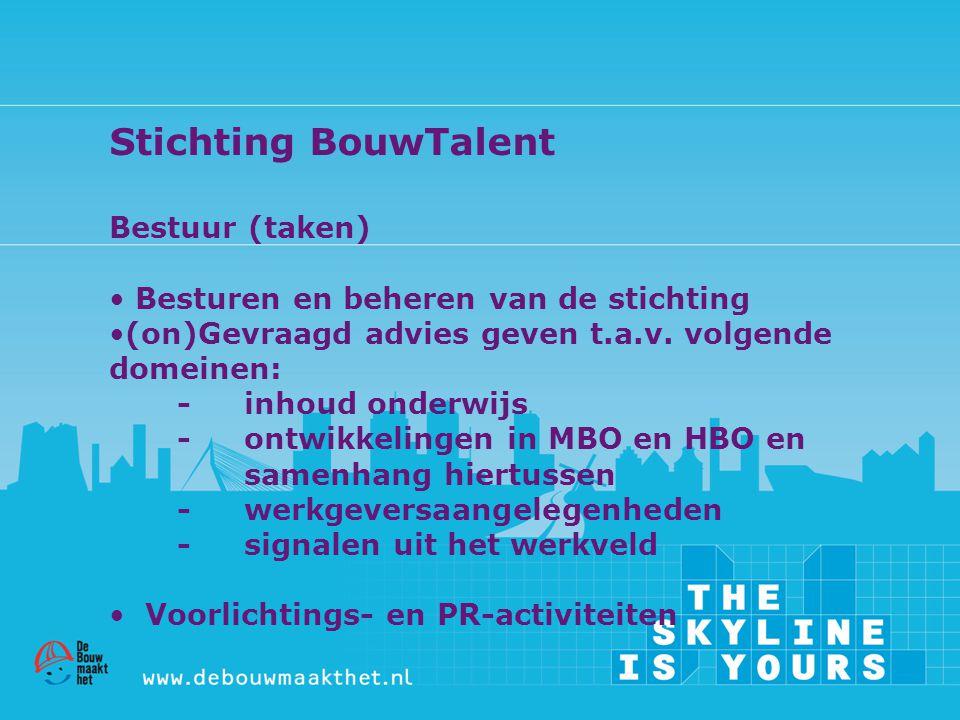 Stichting BouwTalent Bestuur (taken)