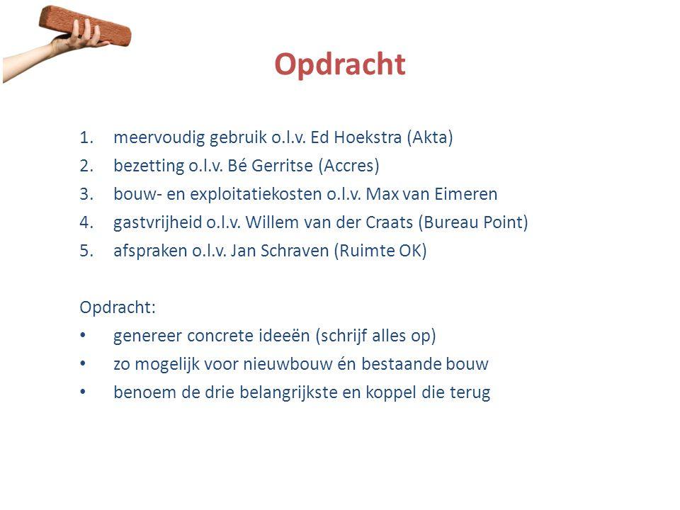 Opdracht meervoudig gebruik o.l.v. Ed Hoekstra (Akta)