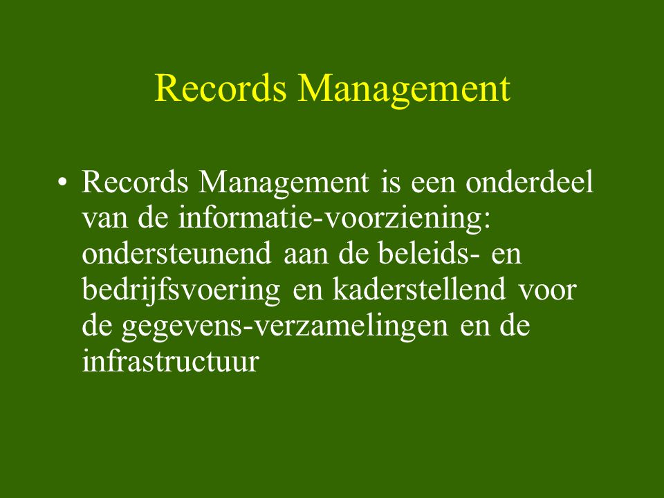 Records Management