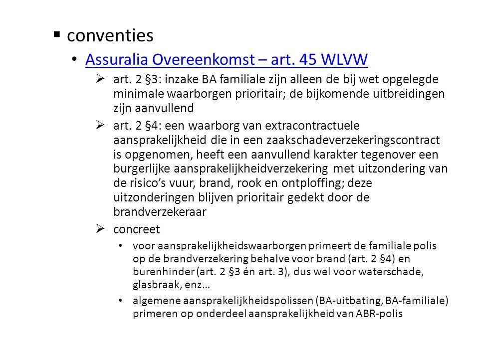 conventies Assuralia Overeenkomst – art. 45 WLVW