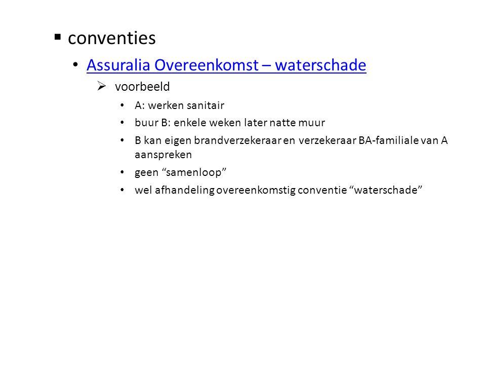 conventies Assuralia Overeenkomst – waterschade voorbeeld