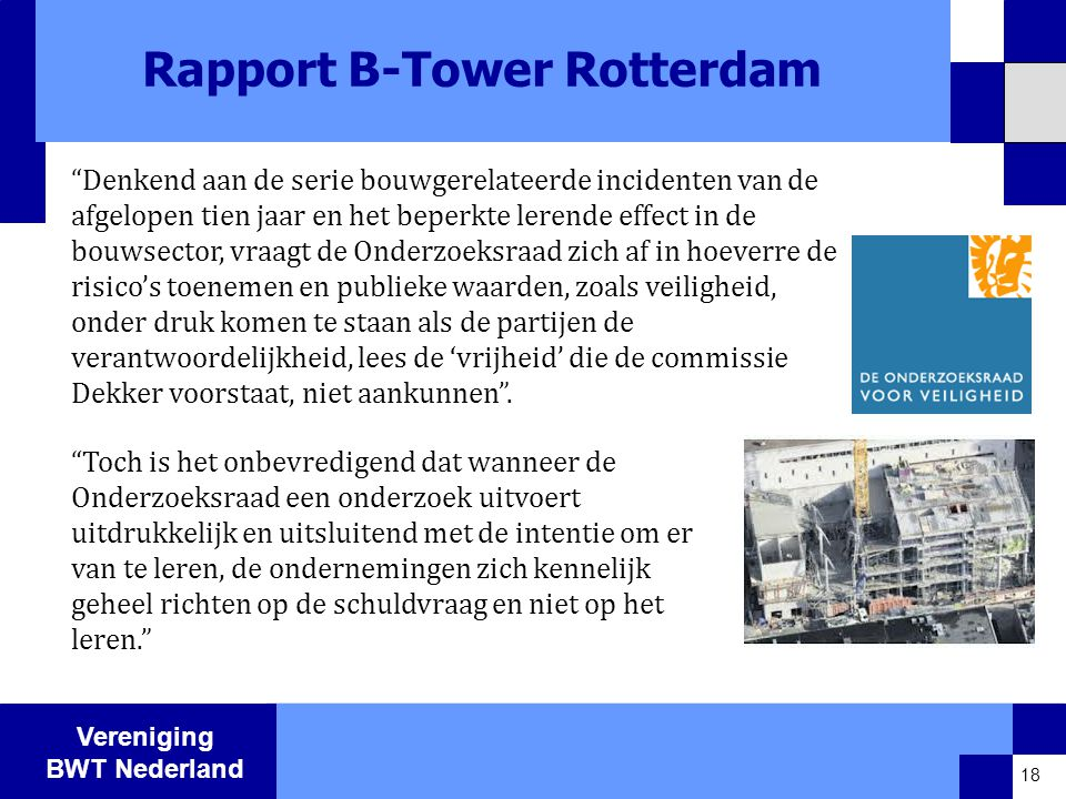 Rapport B-Tower Rotterdam