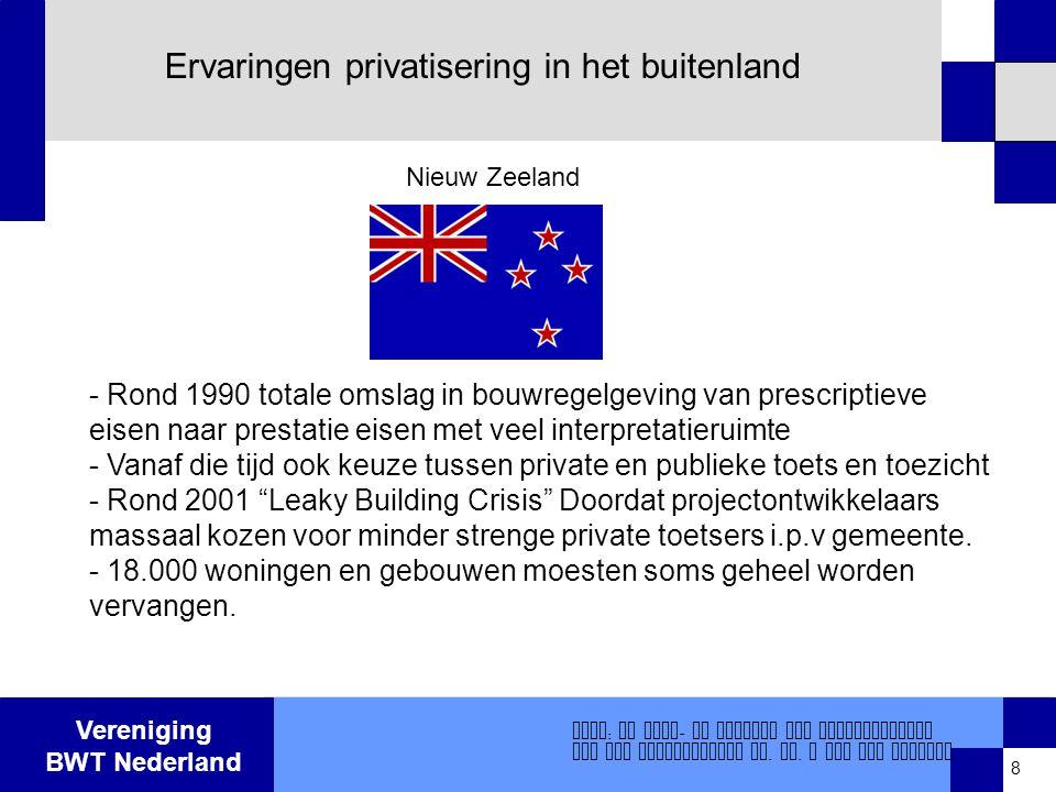 Ervaringen privatisering in het buitenland