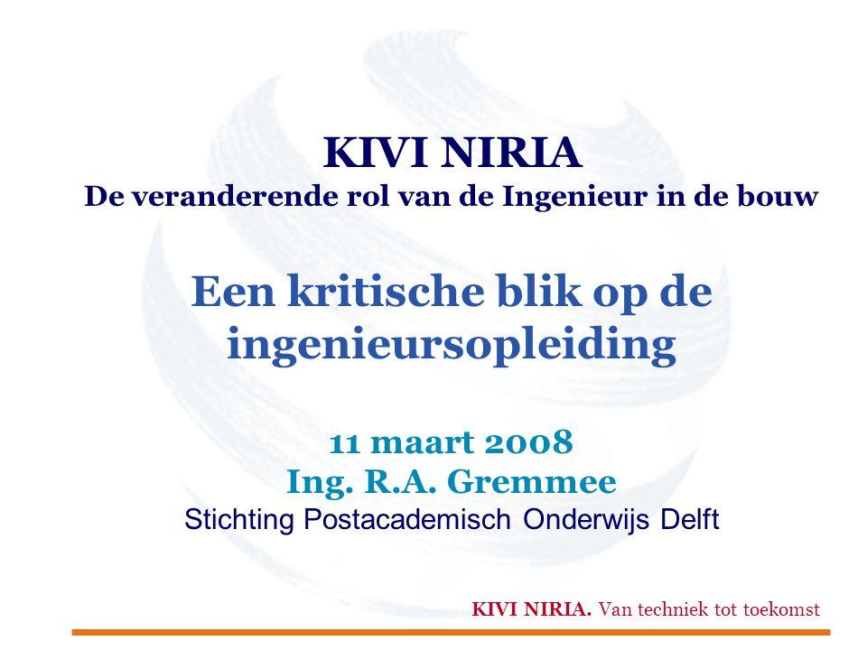 KIVI NIRIA Een kritische blik op de ingenieursopleiding