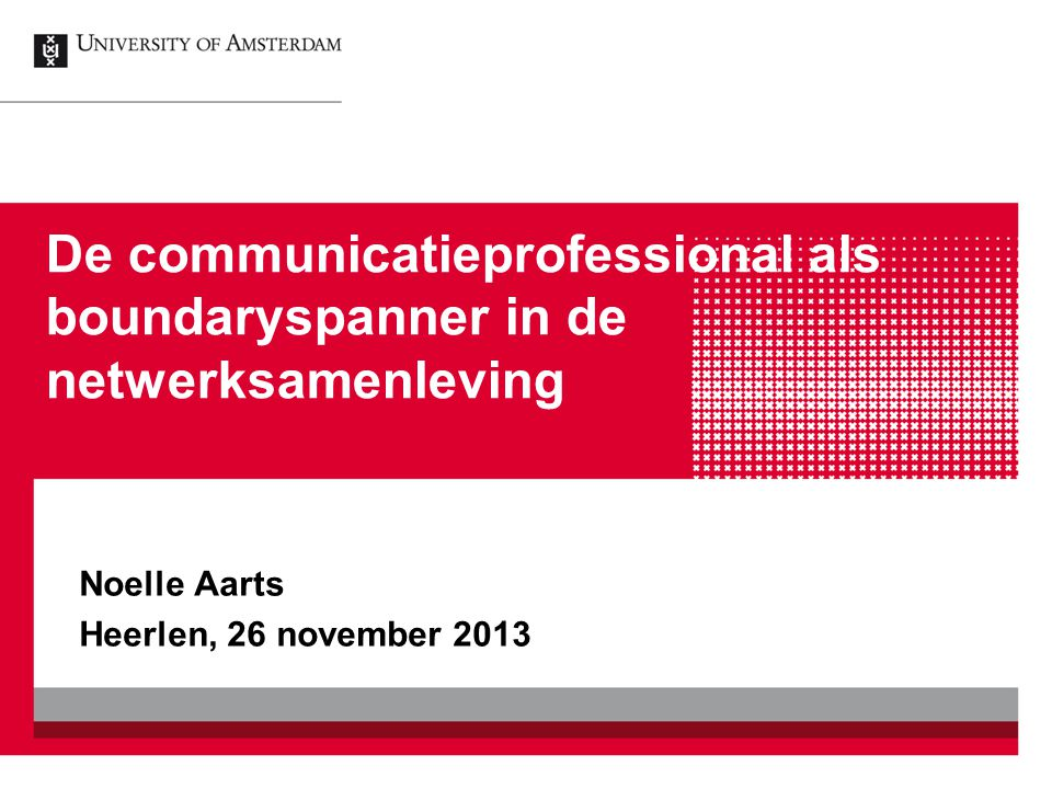 Noelle Aarts Heerlen, 26 november 2013