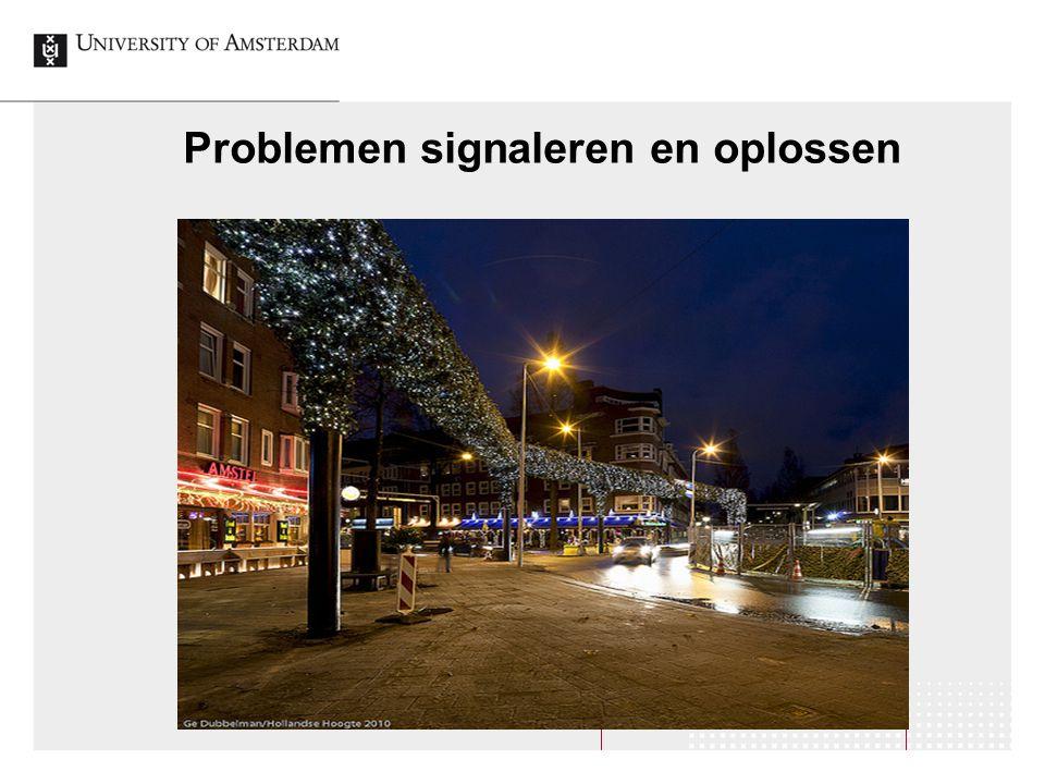 Problemen signaleren en oplossen
